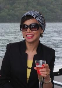 Caroline Hong on the boat-Sydney