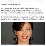 Women on Boards Dr Caroline Hong FAICD