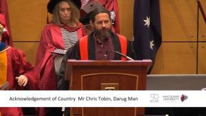 Chris Tobin darug Man Macquarie University